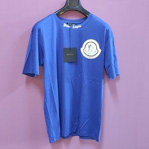 Palm Angels Opal Blue  Written T-Shirt